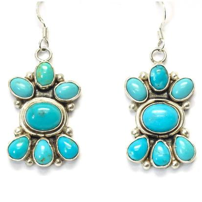 STT The Bailys Turquoise Cluster Earrings