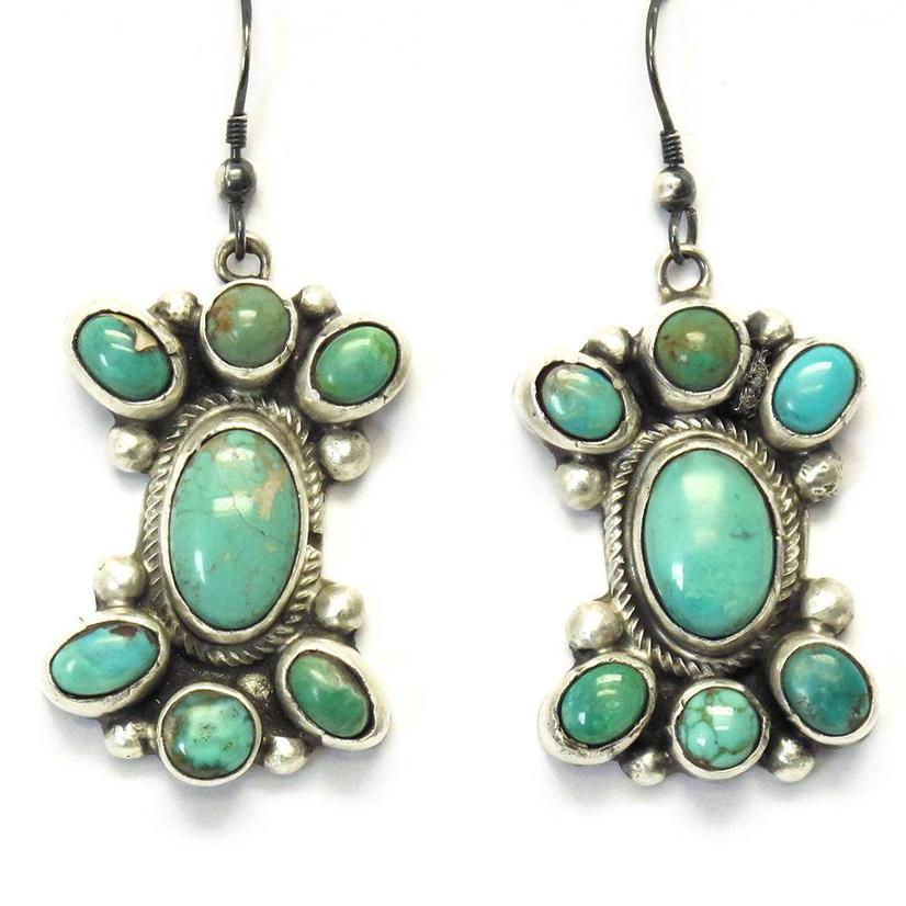 STT The Bahnons Turquoise Cluster Earrings