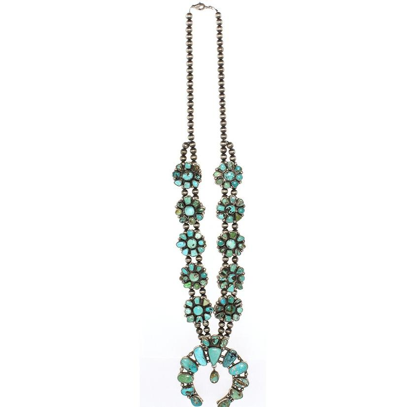 STT The Yvette Large Turquoise Squash Blossom Necklace