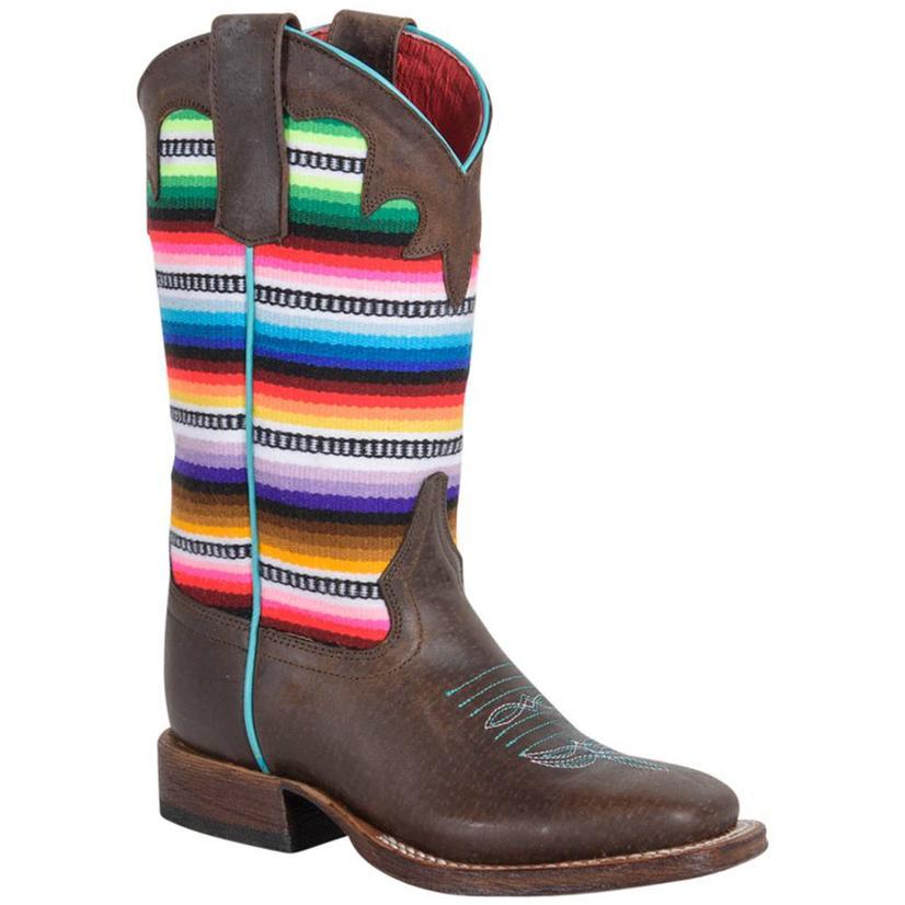 Macie Bean Kids Super Serape Cowgirl Boots