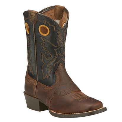 Ariat Boys Roughstock Leather Cowboy Boots