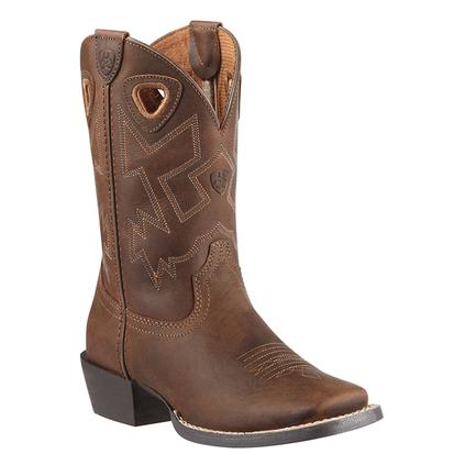Ariat Charger Square Toe Distressed Kid and Youth Cowboy Boots