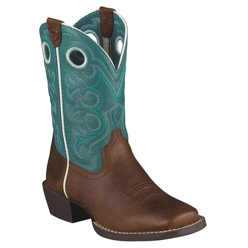 Ariat Boys Crossfire Square Toe Cowboy Boots