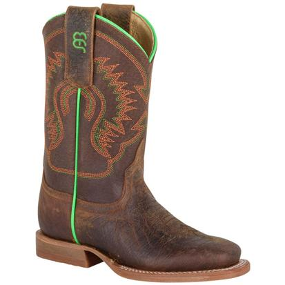 Anderson Bean Toast Bison Leather Cowboy Boots