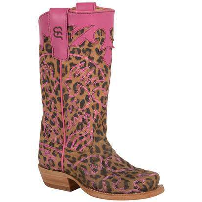 Anderson Bean Girls Lucky Leopard Western Cowboy Boots