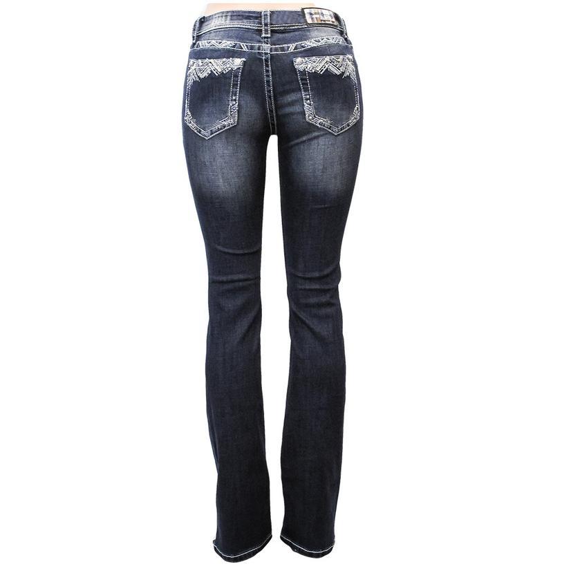 Grace In La Womens Dark Denim Jeans