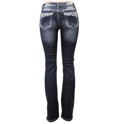 Grace In LA Womens Dark Denim Jeans