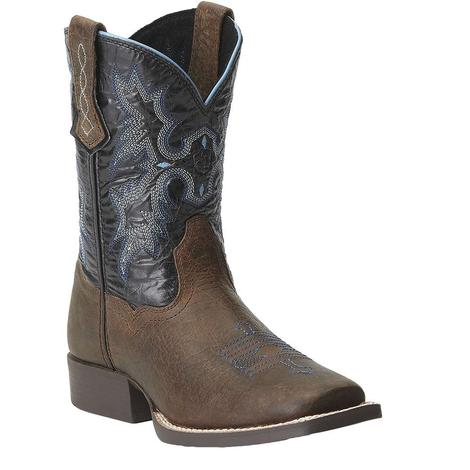 Ariat Kids Lightning Blue Tombstone Cowboy Boots