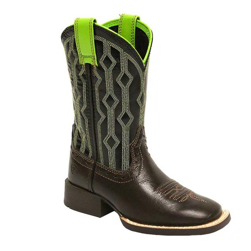 Ariat Kids Live Wire Chocolate Western Boots
