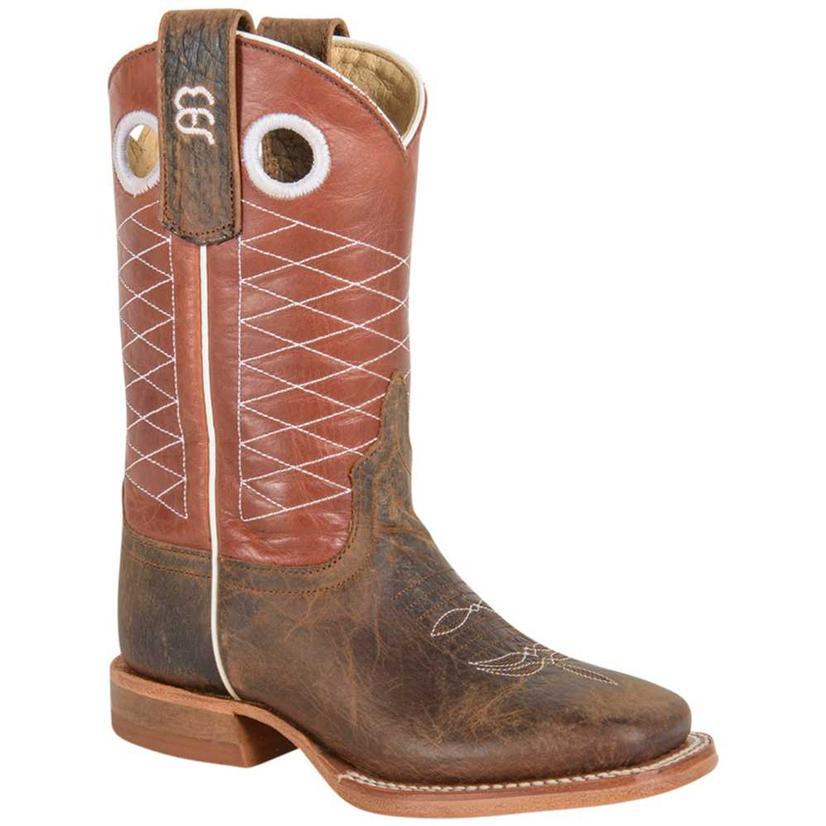 Anderson Bean Kids Toast Bison Cowboy Boots