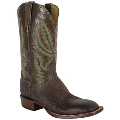 Lucchese Mens Old English Archer Chocolate Boot