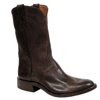 Rios of Mercedes Mens Mad Dog Chocolate Leather Roper Boots