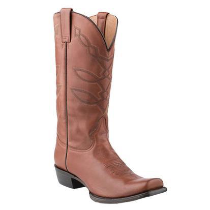 Stetson Mens Western Hog Nose Cedar Boots