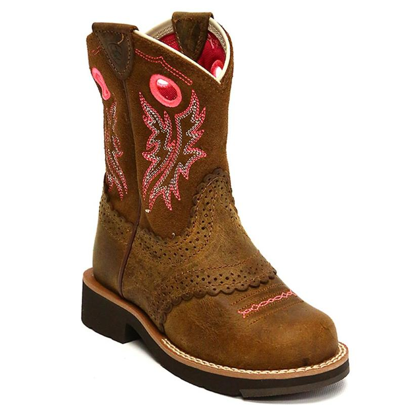 Ariat Girls Fatbaby Round Toe Cowgirl Boots