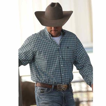 Cinch Mens Multi Plaid Long Sleeve Western Shirt