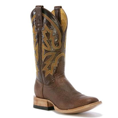 Rod Patrick Mens Alabama Brown Kangaroo Round Toe Cowboy Boot