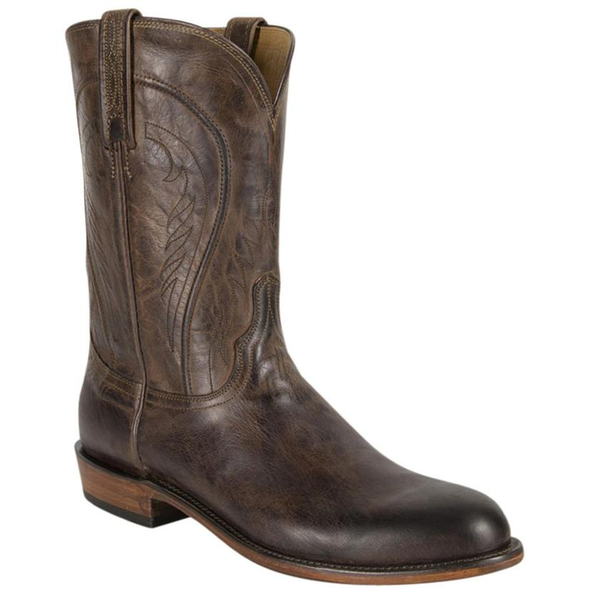 Lucchese Heritage Mens Chocolate Burnished Mad Dog Goat Boot