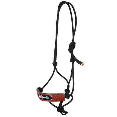 Rafter T Ranch Rope Halter Printed Brown Nose with Arrow Design