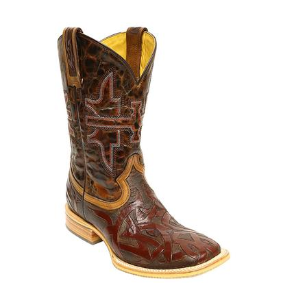 Tin Haul Mens Stag Animal House Cowboy Boots