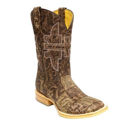 Tin Haul Mens Million Dollar Check Cowboy Boots