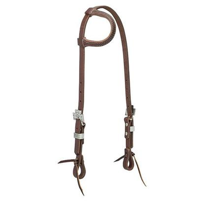 Tourquoise Cross Working Cowboy Slid Ear Headstall