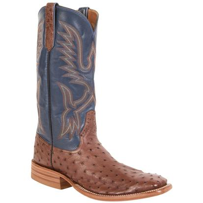 Rios of Mercedes Mens Cigar Full Quill Ostrich Cowboy Boots