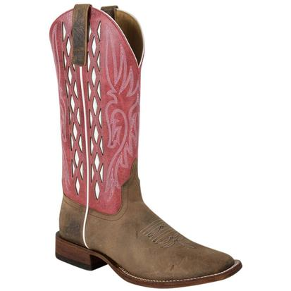 Horse Power Mens Toast Leather Bison Western Boot