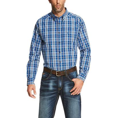 Ariat Mens Redman Long Sleeve Performance Earthly Blue