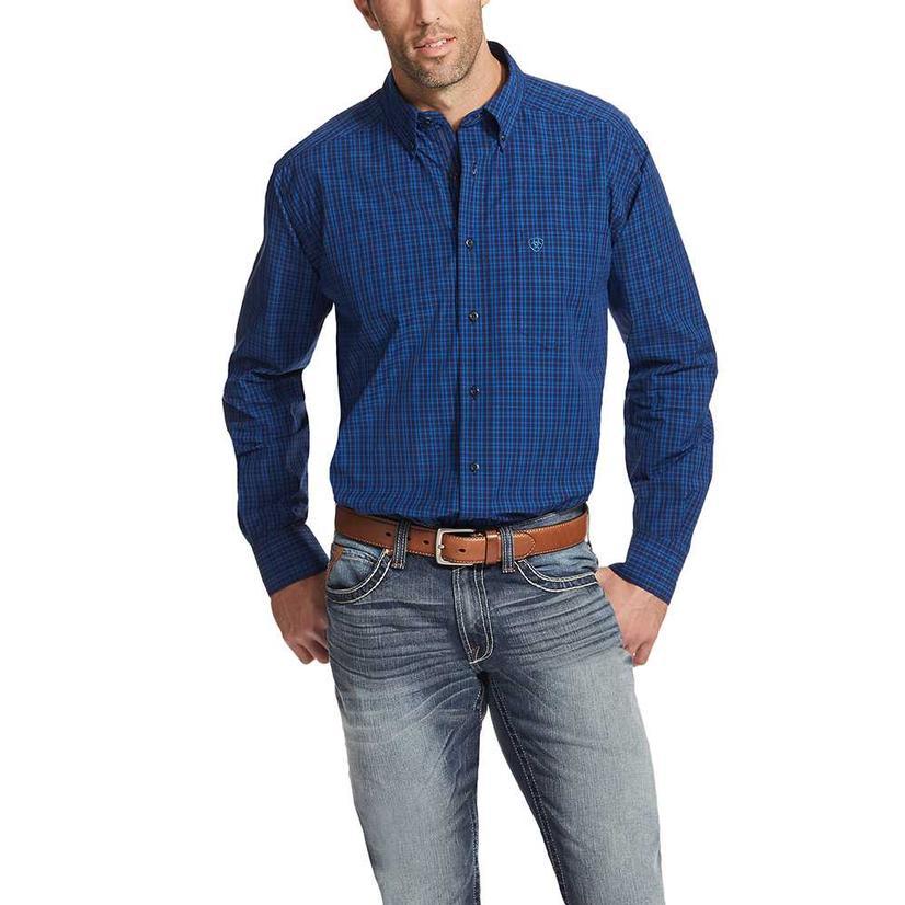 Ariat Mens Rackerby Ocean Blue Western Shirt