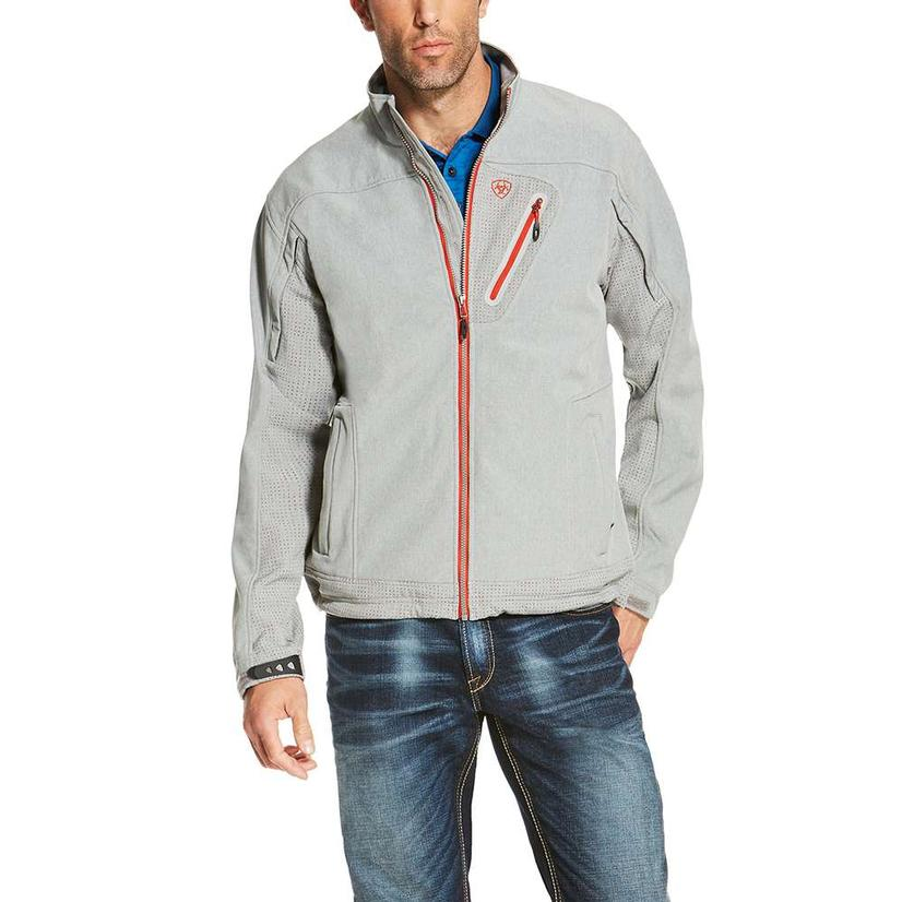 Ariat Mens Forge Grey Softshell Jacket