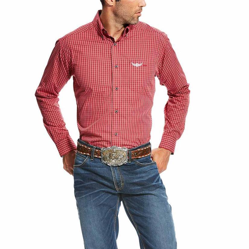Ariat Mens Relentless Swift Red Quince Long Sleeve Shirt