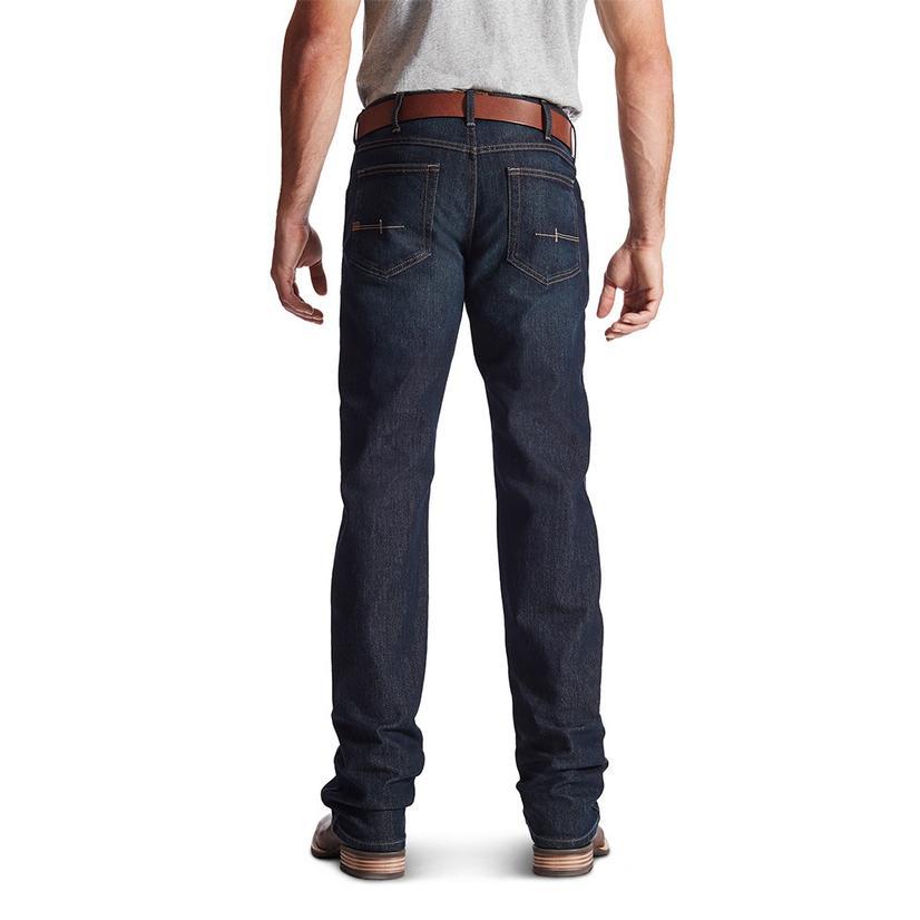 Ariat Mens Rebar M5 Slim Straight Leg Western Jeans