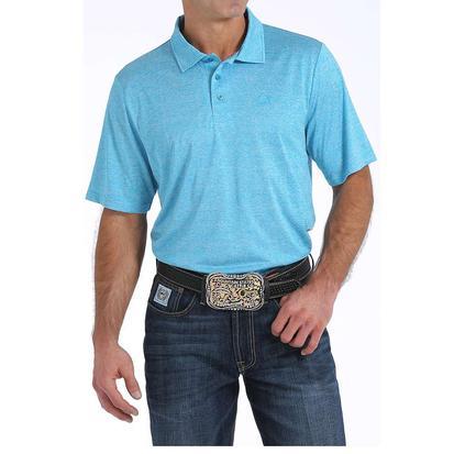 Cinch Mens Blue Solid Polo Shirt