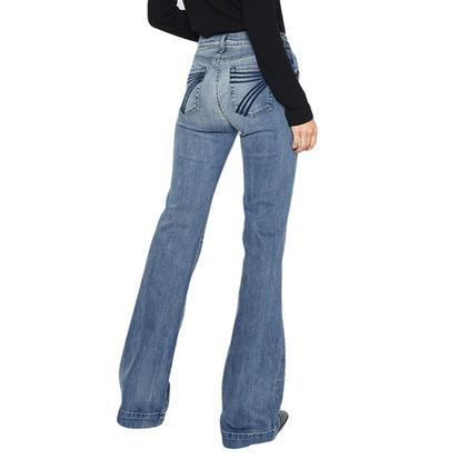7 For All Mankind Dojo in Wall Street Heritage Flare Women's Jeans