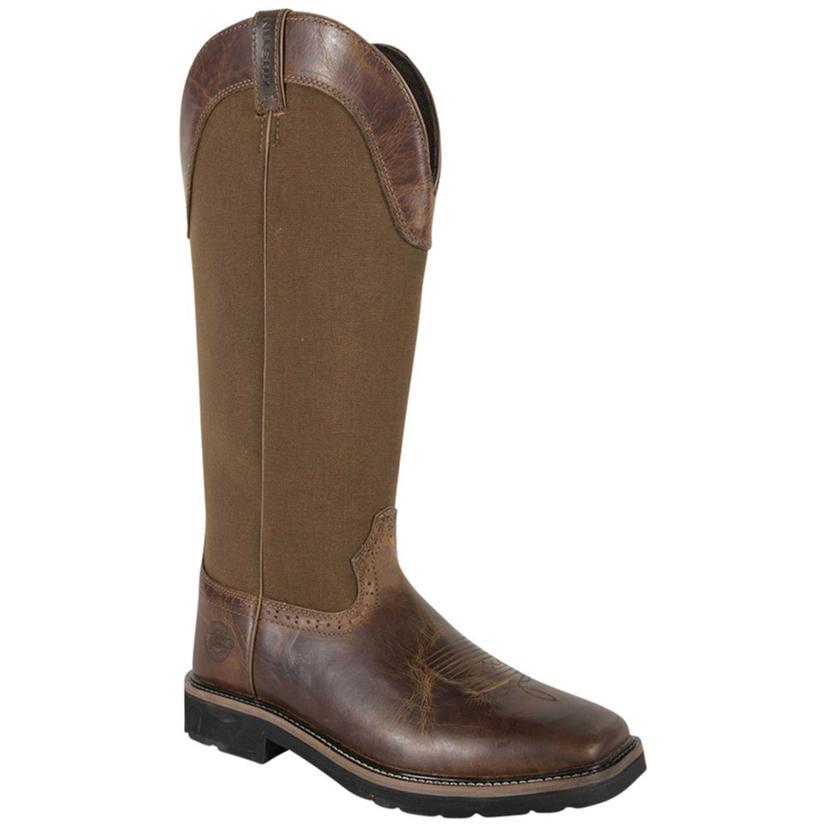 Justin Mens Brown Nylon Snake Boot