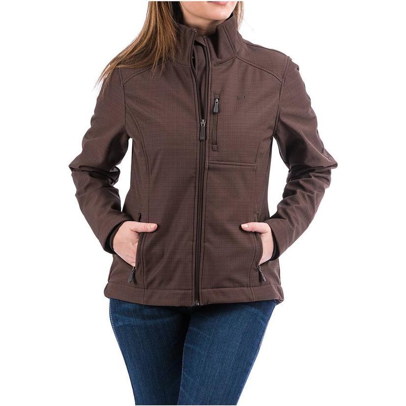 Cinch Womens Brown Printed Bonded Conceal Carry Jacket