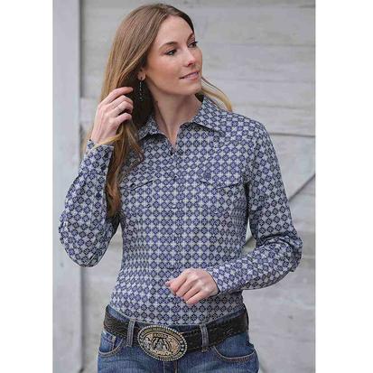 Cinch Womens Geometric Print Western Snap Shirt