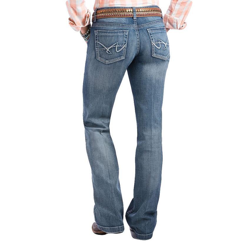 Cruel Girl Womens Jayley Medium Wash Trouser Jeans