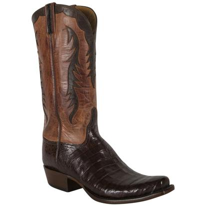 Lucchese Mens Sienna Ultra Caiman Belly Boots