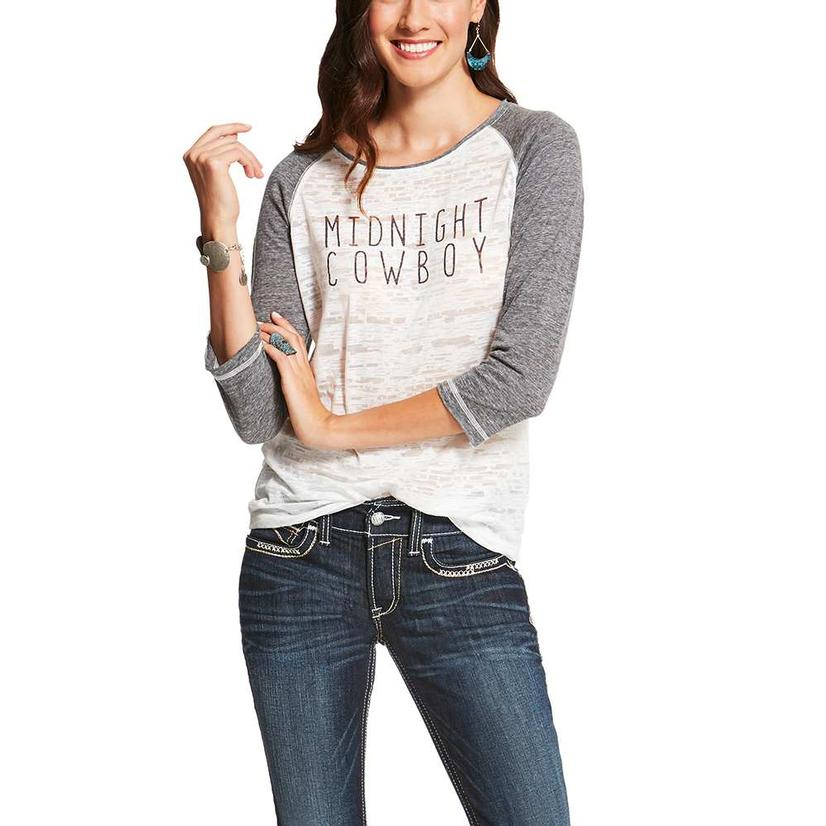 Ariat Womens Midnight Burnout Tee