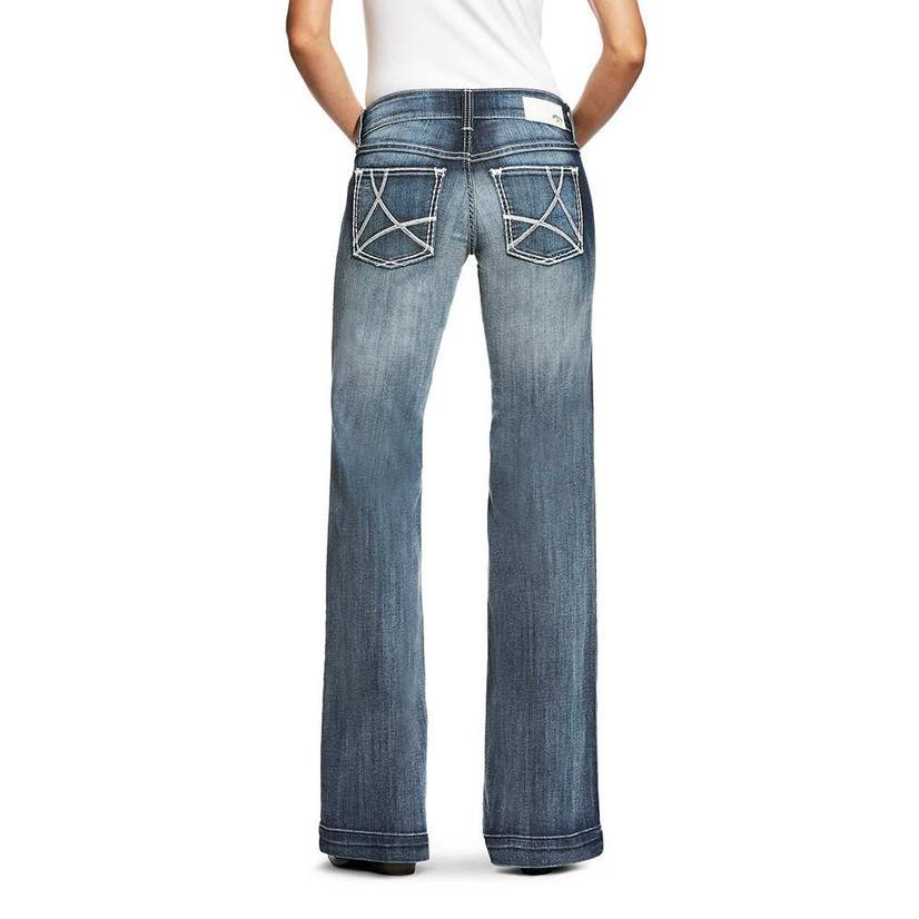 Ariat Womens Sophia Medium Wash Open Pocket Denim Trouser Jean