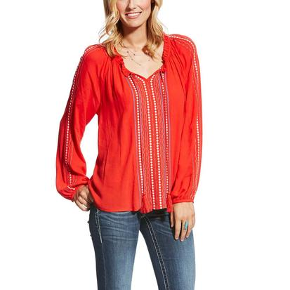 Ariat Womens Shawna High Risk Red Top
