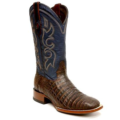 Stetson Mens Honey Caiman Belly Square Toe Boot