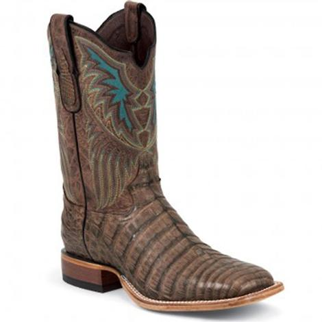Tony Lama Mens Cigar Vintage Belly Black Label Caiman Western Boots