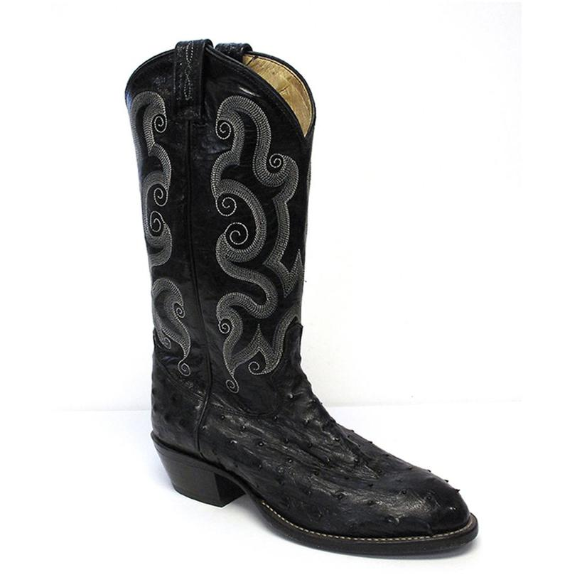 Tony Lama Mens Full Quill Ostrich Exotic Western Boots