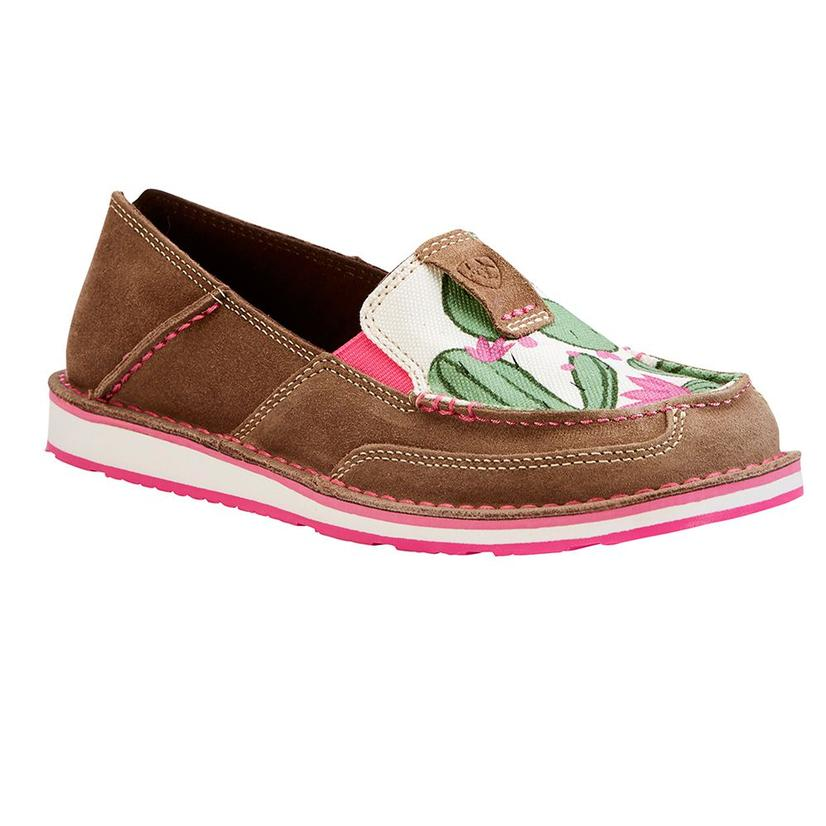 Ariat Womens Cactus Flower Slip On Cruisers