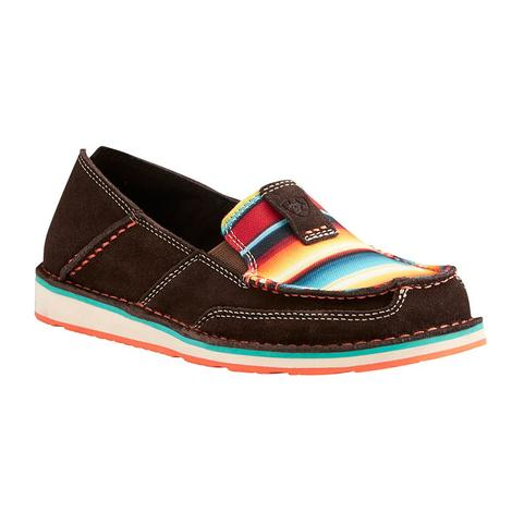 Ariat Womens Chocolate Sunset Serape Cruiser