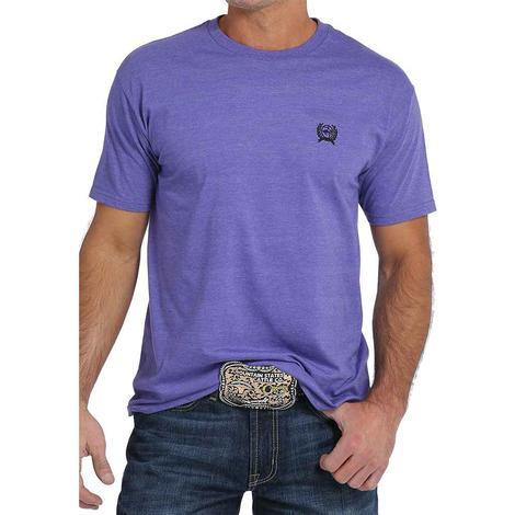 Cinch Mens Purple Short Sleeve Jersey Tee