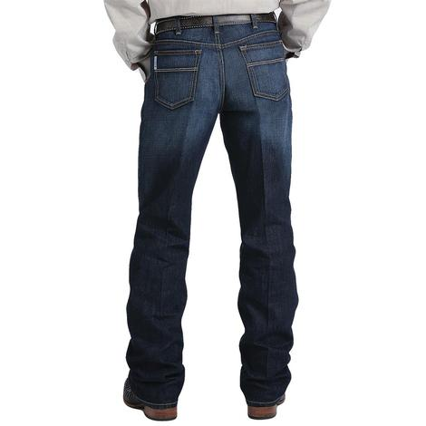 Cinch Mens White Label Dark Wash Mid Rise Straight Leg Jeans