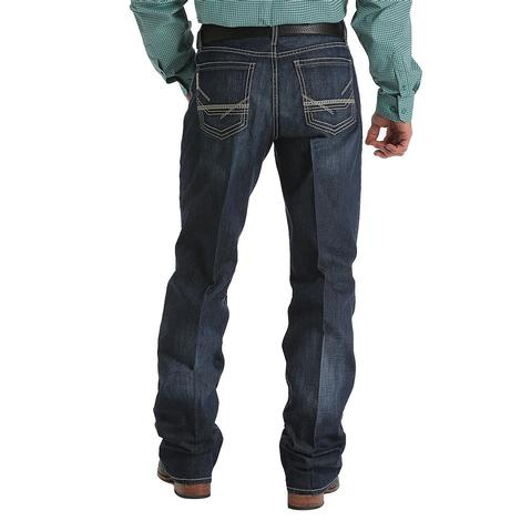 Cinch Mens Grant Dark Wash Relaxed Fit Western Jeans